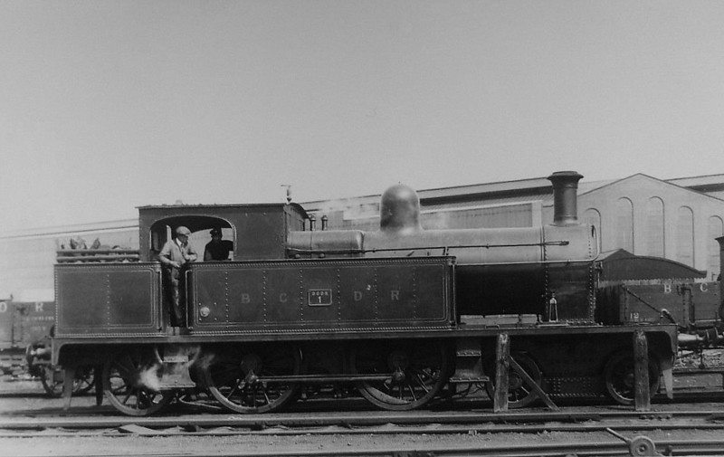 1 - 4-4-2T, built 1909 by Beyer Peacock - 1931 rebuilt with Belpaire boiler - 1948 to UTA as No.201 - 1949 to store, 1962 withdrawn.