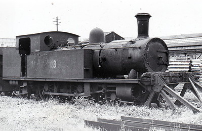 No.13L - 2-4-2T, built 1899 by Neilson Reid & Co., Works No.5564, as Cork, Blackrock & Passage Railway No.7 - 1925 to GSR as No.7P, 1934 to Cavan & Leitrim Railway as No.13L - withdrawn 1954 - seen here, withdrawn, at Inchicore Works.