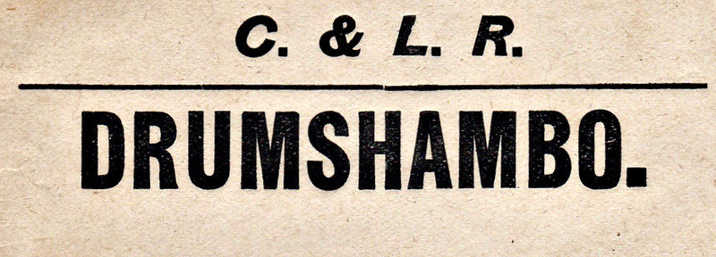 PARCELS/LUGGAGE LABEL - DRUMSHAMBO.