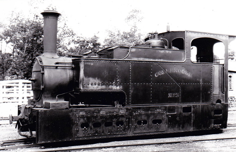 No.5 COLEBROOK - built 1887 by Sharp Stewart & Co., Works No.3373 - withdrawn in 1936 - seen here at Aughancloy in July 1933.
