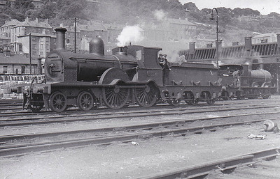 Class D17 - 57 - GS&WR Class 52 4-4-0, built 1888 by Inchicore Works - 1925 to GSR, 1945 to CIE - 1950 rebuilt with Belpaire boiler - withdrawn 1957 - seen here at Cork Glanmire Road in June 1948.