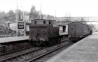Class B 4 - 466 - 4-6-0T, built 1920 by Beyer Peacock as Cork, Bandon & South Coast Railway No.13 - 1925 to GSR as No.466, 1945 to CIE, 1947 rebuilt with Belpaire boiler - withdrawn 1961 - seen here at Dalkey in 1955.