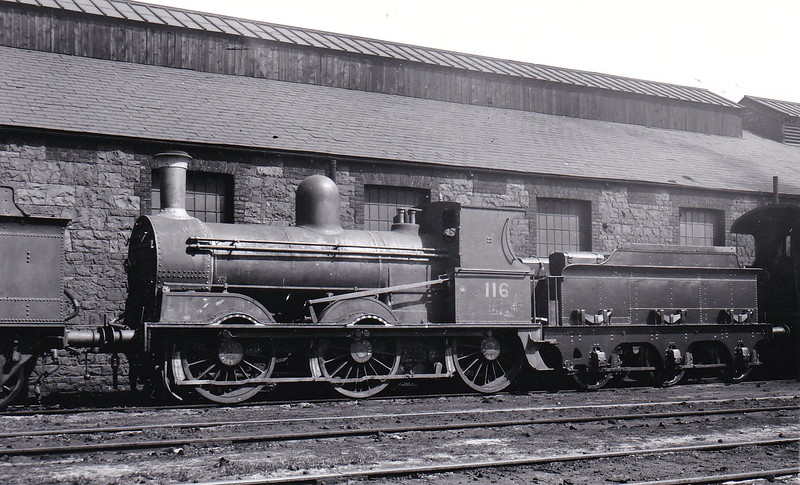 Class J15 - 116 - GS&WR Class 101 0-6-0, built 1896 by Inchicore Works - 1908 rebuilt, 1925 to GSR, 1945 to CIE - withdrawn 1966 - seen here at Inchicore in July 1950.