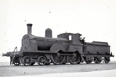 Class D17 - 3 - Aspinall GS&WR Class 52 4-4-0, built 1890 by Inchicore Works - 1925 to GSR, 1945 to CIE - 1952 rebuilt with Belpaire boiler - withdrawn 1957 - seen here on the Quays at Wexford in April 1952.