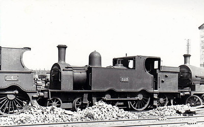 Class C 7 - 317 - GS&WR Class 37 4-4-2T - built 1901 by Inchicore Works - 1925 to GSR, 1945 to CIE - withdrawn 1955 - seen here at Inchicore in 1948.