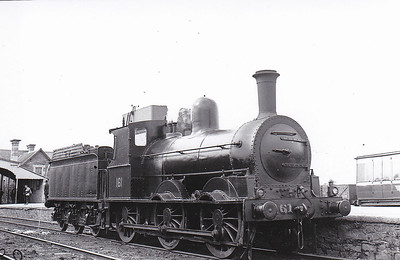 Class J15 - 161 - GS&WR Class 101 0-6-0 - built 1871 by Inchicore Works - 1925 to GSR, 1925 rebuilt, 1945 to CIE - withdrawn 1963 - seen here at Limerick in June 1948.