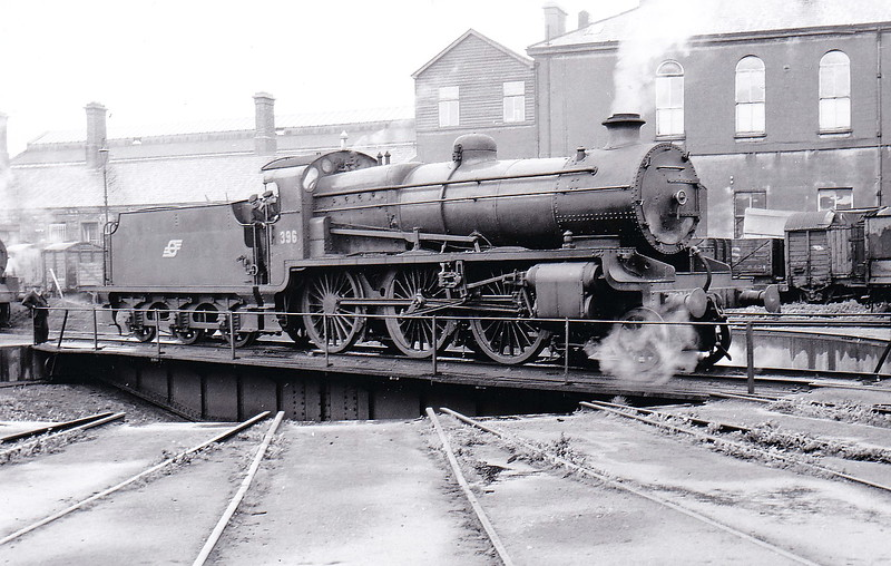Class K1A - 396 - GSR Class 393 2-6-0, built 1930 by Inchicore Works - 1945 to CIE - withdrawn in 1959 - seen here in Dublin in 1951.