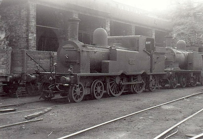 Class C 7 -  37 - GSWR Class 37 4-4-2T, built 1894 by Inchicore Works - 1925 to GSR, 1945 to CIE - withdrawn 1954 - seen here at Cork Rocksavage, 06/53.