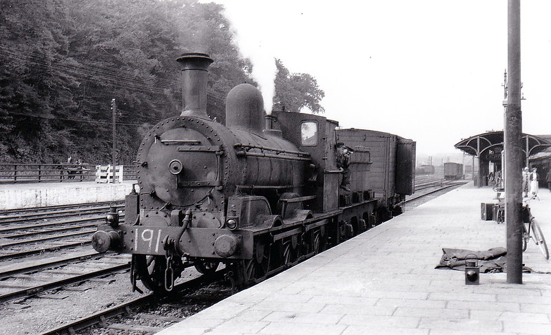 Class J15 - 191 - GS&WR Class 101 0-6-0, built 1885 by Inchicore Works - 1925 to GSR, 1945 to CIE - withdrawn 1962 - seen here at Mallow in 1955..