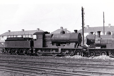 Class K 2 - 462 - 2-6-0, built in 1922 by Beyer Peacock & Co., Works No.6113, as Dublin & South Eastern Railway as No.16 - 1925 to GSR as No.462, 1945 to CIE - withdrawn 1963 - seen here at Inchicore in August 1950.