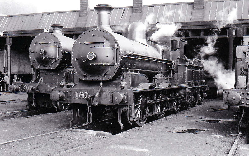 Class J15 - 181 - GS&WR Class 101 0-6-0, built 1879 by Inchicore Works - 1920 rebuilt, 1925 to GSR, 1936 rebuilt with Belpaire boiler, 1945 to CIE - withdrawn 1965 - seen here at Cork in April 1956..
