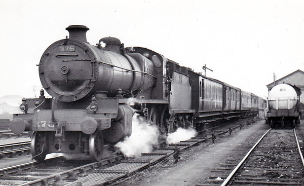 Class K1 - 376 - Class 372 2-6-0, built 1926 by Broadstone Works - 1945 to CIE - withdrawn in 1961 - seen here at Athlone on the Dublin Westland Row - Galway mail train in November 1953.