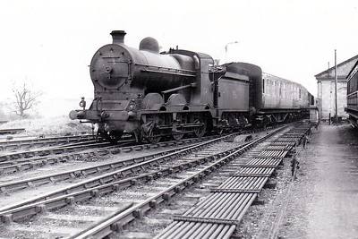 Class J5 - 641 - Morton M&GWR Class Fa 0-6-0, built 1922 by Armstrong Whitworth & Co., Works No.175,  as M&GWR No.44 - 1925 to GSR No.641, 1945 to CIE - withdrawn 1959 - seen here at Athlone with Mayo portion of the 0840 from Dublin Westland Row in November 1953.