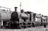 Class J19 - 606 - M&GWR Class L 0-6-0, built 1887 by Broadstone Works as Midland & Great Western Railway No.68 MULLINGAR - 1903 rebuilt with Belpaire boiler, 1925 to GSR as No.606, 1933 rebuilt with Belpaire boiler, 1945 to CIE - withdrawn 1963 - seen here at Inchicore in 1948 as oil burner.