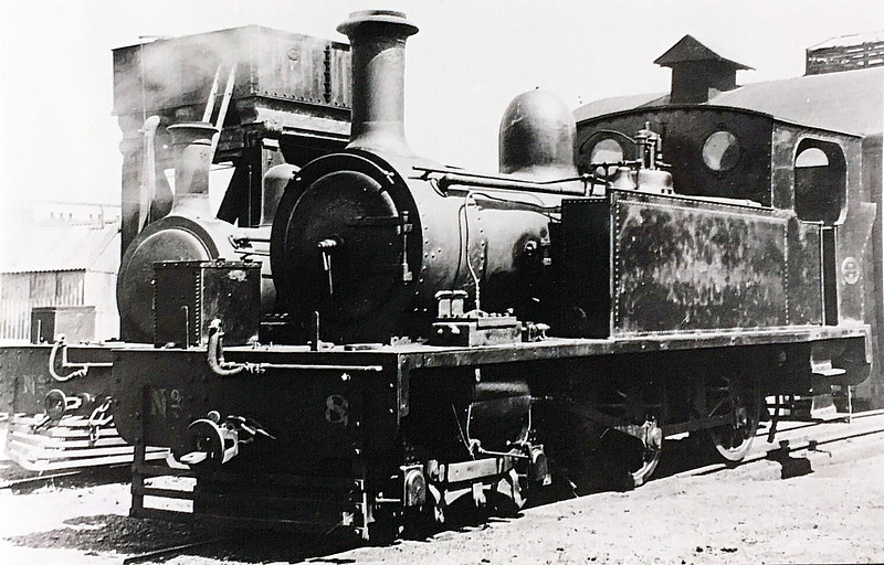 No.8 DRIPSEY - 4-4-0T, built 1904 by Brush Electrical Co., Works No.307 - 1925 to GSR - withdrawn 1935 - seen here at Cork.