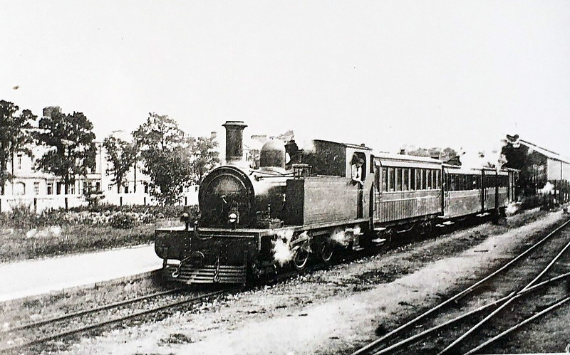 No.8 DRIPSEY - 4-4-0T, built 1904 by Brush Electrical Co., Works No.307 - 1925 to GSR - withdrawn 1935 - seen here at Cork in 1924.