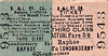 CDRJC TICKET - STRABANE & LETTERKENNY RAILWAY - RAPHOE - Third Class Monthly Return to Londonderry, actual fare 3s 9d. The S&LR was the last line opened by the CDRJC in January 1909.