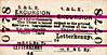 CDRJC TICKET - STRABANE & LETTERKENNY RAILWAY - LETTERKENNY - Third Class Day Excursion to blank destination. The S&LR was the last line opened by the CDRJC in January 1909.