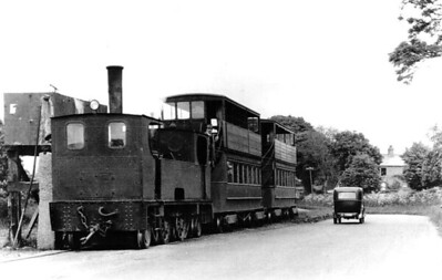 DUBLIN & BLESSINGTON TRAMWAY - 10 - double ended 2-4-2T, one of 4 operated by the D&BT, built 1906 by Tim Green as No.6 - 1914 to No.10 - seen here at Embankment in 1932.