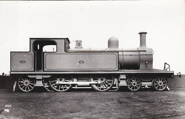 DUBLIN, WICKLOW & WEXFORD RAILWAY - 4-4-2T - 3 engines built by Sharp Stewart & Co. in 1893 - seen here in builders picture and not identified - they were 52 DUKE OF CONNAUGHT, 53 DUKE OF ABERCORN and 54 DUKE OF LEINSTER - they passed to the GSR in 1925 as Nos.458, 460 and 459 respectively, 1945 to CIE - withdrawn in 1955, 1960 and 1953 respectively.