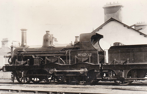 DUBLIN, WICKLOW & WEXFORD RAILWAY - 12 - 2-4-0 - built 1860 by W Fairbairn & Co. - 1902 withdrawn.