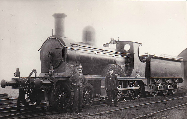 DUBLIN, WICKLOW & WEXFORD RAILWAY - 55 RATHDOWN - 4-4-0 - built 1895 by Vulcan Foundry Co. - 1923 rebuilt with Belpaire boiler - 1925 to GSR as No.450 - 1929 withdrawn.