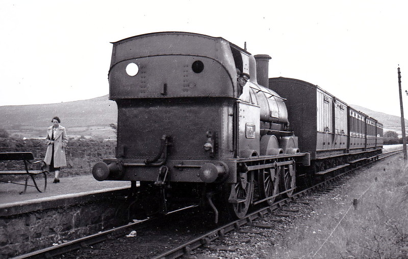 DUNDALK, NEWRY & GREENORE RAILWAY - 6 HOLYHEAD - 0-6-0ST, built 1899 by LNWR Crewe Works - withdrawn 1951 when the railway closed - seen here on a Greenore - Dundalk train.