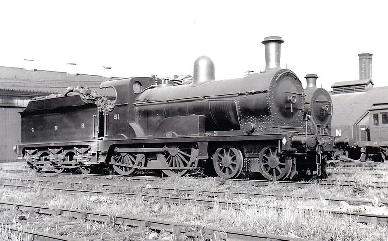 Class P -  51 HYACINTH - GNR(I) 4-4-0 - built 1892 by Beyer Peacock - 1925 rebuilt as Class Ps - withdrawn 1950.