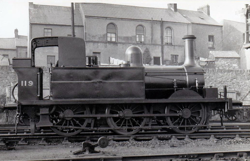 Class BT - 119 - GNR(I) 4-4-0T - built 1887 by Dundalk Works as GNR(I) No.100 - 1888 to GNR(I) No.1 - 1921 rebuilt as 0-6-0T and to GNR(I) No.119 - withdrawn 1935 - seen here at Londonderry.