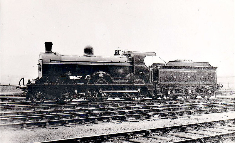 Class S - 170 ERRIGAL - GNR(I) 4-4-0, built 1913 by Beyer Peacock - 1939 rebuilt - 1958 to CIE as No.170N - withdrawn 1963.