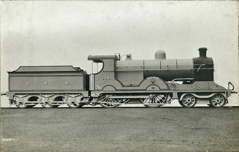 Class S - 174 CARRANTUOHILL - GNR(I) 4-4-0 - built 1913 by Beyer Peacock - 1939 rebuilt - 1958 to CIE as No.174N - withdrawn 1963.