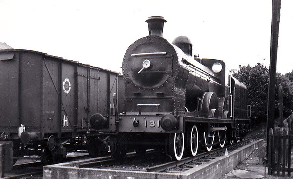 Class Q - 131 URANUS - Clifford GNR(I) 4-4-0, built 1901 by Neilson Reid & Co., Works No.5757 - 1920 rebuilt to Class Qs - 1958 to CIE as No.131N - withdrawn 1963 - seen here plinthed at Dundalk in May 1978 - 1984 removed and preserved by RPSI.