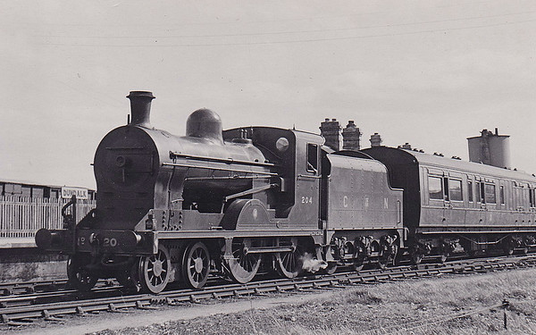 Class U - 204 ANTRIM - GNR(I) 4-4-0 - built 1948 by Beyer Peacock - 1958 to CIE as 204N - withdrawn 1963 - seen here at Dundalk.
