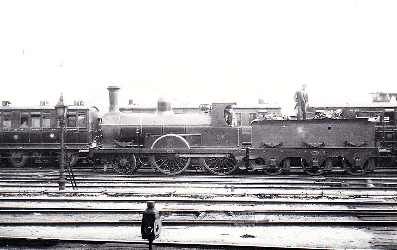 Class G - 24 - GNRI 2-4-0 - built 1877 by Beyer Peacock & Co., Works No.1750 -  1910 to GNRI No.24A - 1914 withdrawn - seen here at Dublin Amiens Street in September 1901.