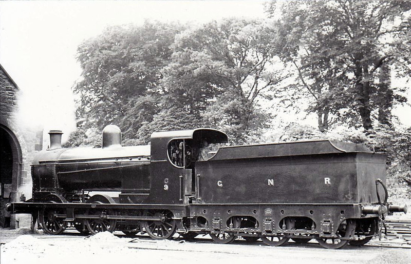 Class NGQ -   9 KELLS - 0-6-0, built 1911 by Nasmyth Wilson - 1930 rebuilt as Class NQGs - 1958 to UTA as No.9x - withdrawn 1960 - seen here at Enniskillen in 1932.