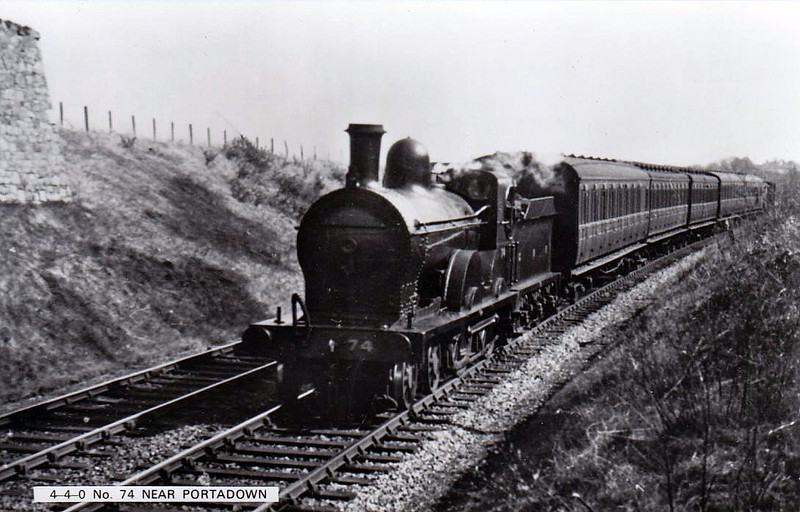 Class PP - 74 ROSTREVOR - GNR(I) 4-4-0 - built 1896 by Beyer Peacock - 1917 rebuilt, 1930 rebuilt as Class PPs - 1958 to UTA as 74x, 1960 to UTA No.42x - withdrawn 1963.