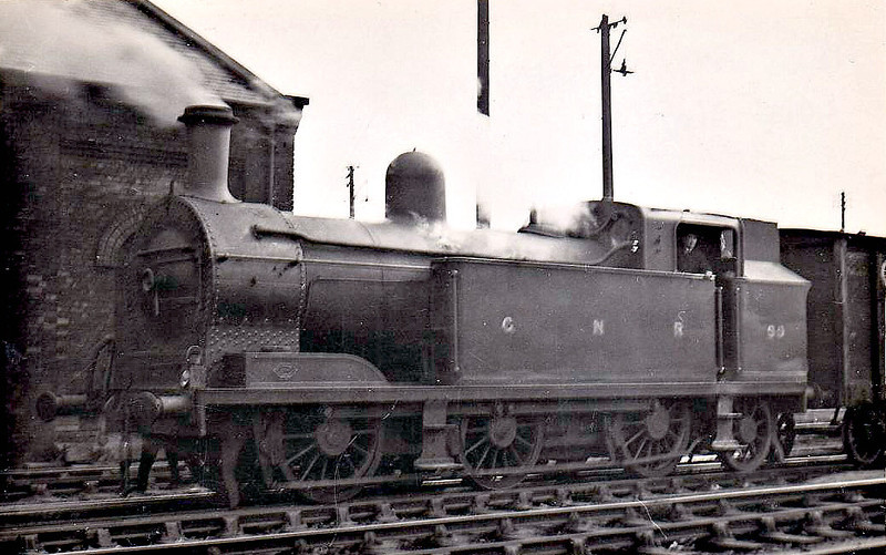 Class QGT -  99 - GNR(I) 0-6-2T, built 1905 by Robert Stpehenson & Co. - 1935 rebuilt as Class QGTs - 1958 to CIE as No.99N - withdrawn 1960.