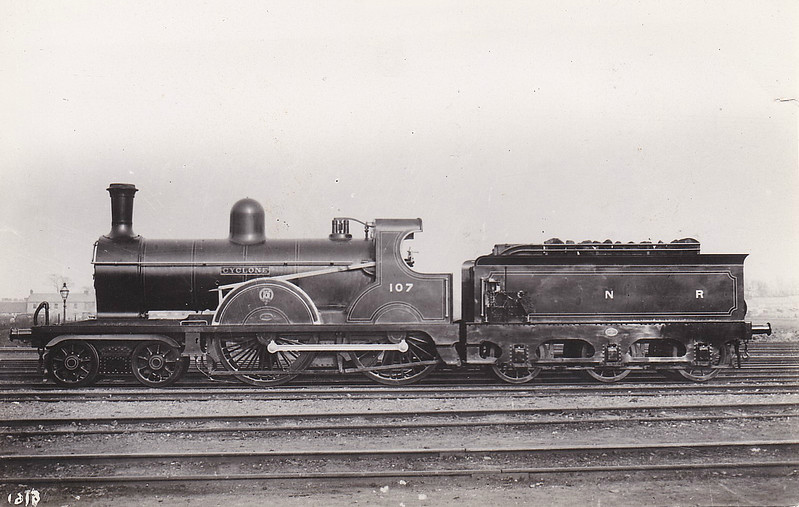 Class PP - 107 CYCLONE - GNR(I) 4-4-0 - built 1906 by Beyer Peacock - 1920 rebuilt, 1929 rebuilt as Class PPs - 1958 to UTA - withdrawn 1958.