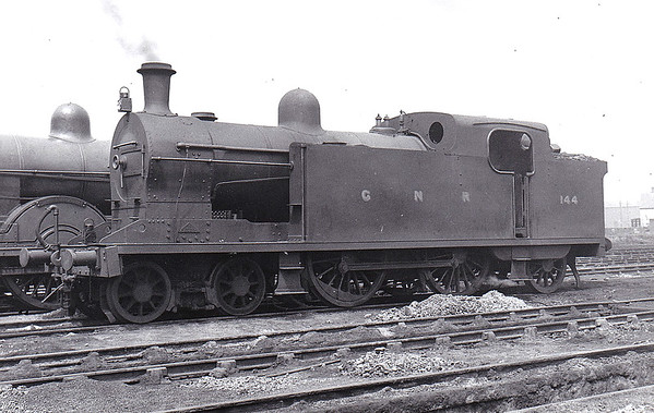 Class T2 - 144 - GNR(I) 4-4-2T, built 1924 by Nasmyth Wilson & Co. - 1958 to CIE - withdrawn 1959 without renumbering - seen here at Adelaide MPD in June 1948.