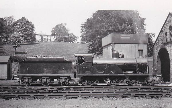 Class PP - 43 LAGAN - GNR(I) 4-4-0, built 1911 by Dundalk Works - 1928 rebuilt to Class PPs, 1941 rebuilt - 1958 to UTA as 43x - withdrawn 1960.