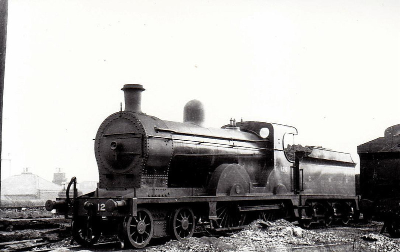 Class QL - 126 DIANA - GNR(I) 4-4-0, built 1907 by North British Loco Co. - 1923 rebuilt to QLs - withdrawn 1957 - seen here at Dublin Amiens Street in 1938.