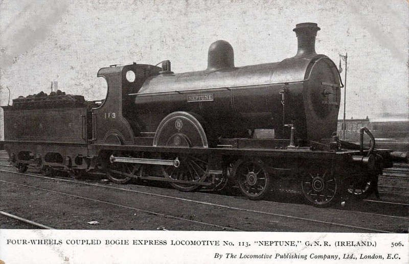 Class QL - 113 NEPTUNE - GNR(I) 4-4-0 - built 1904 by North British - 1924 rebuilt as Class QLs - withdrawn 1957.