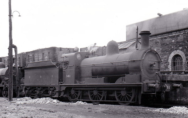 Class AL - 141 - Park GNR(I) 0-6-0 - built 1894 by Beyer Peacock & Co., Works No.3607 as GNRI No.151 WESTMEATH - 1896 to GNRI No.141 - withdrawn 1957 - seen here at Clones.
