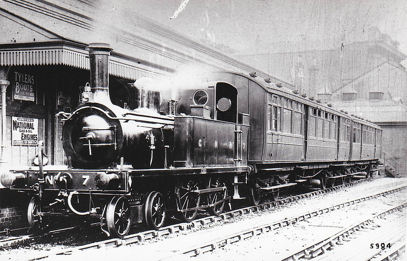 Class BT - 7 - Park GNR(I) 4-4-0T - built 1891 by Dundalk Works as GNR(I) No.7 ARDEE - withdrawn 1920.