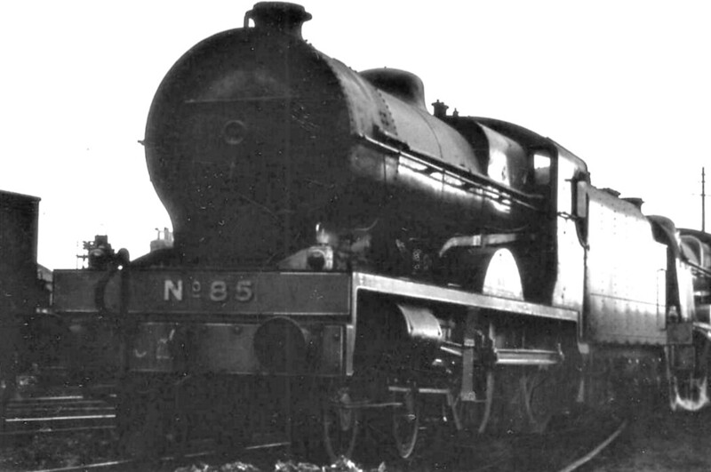Class V - 85 MERLIN - GNR(I) 4-4-0 - built 1932 by Beyer Peacock - 1950 rebuilt with Belpaire boiler - 1958 to CIE as No.85N - withdrawn 1963 - preserved.