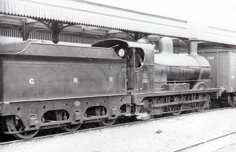 Class PG - 10 BESSBROOK - built 1904 by Dundalk Works - 1925 to Class PGs - 1958 to UTA as No.10x - withdrawn 1964 - seen here at Strabane in 1937.