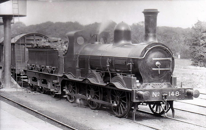 Class C - 148 TENERIFFE - GNR(I) 0-6-0, built 1878 by Dundalk Works as GNR(I) No.16 - 1885 to No.116, 1889 to No.148 - withdrawn 1925.