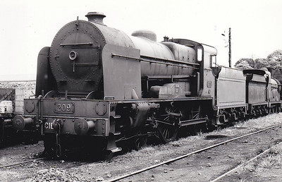 Class VS - 209 FOYLE - GNR(I) 4-4-0, built 1948 by Beyer Peacock - 1958 to CIE - withdrawn 1960.
