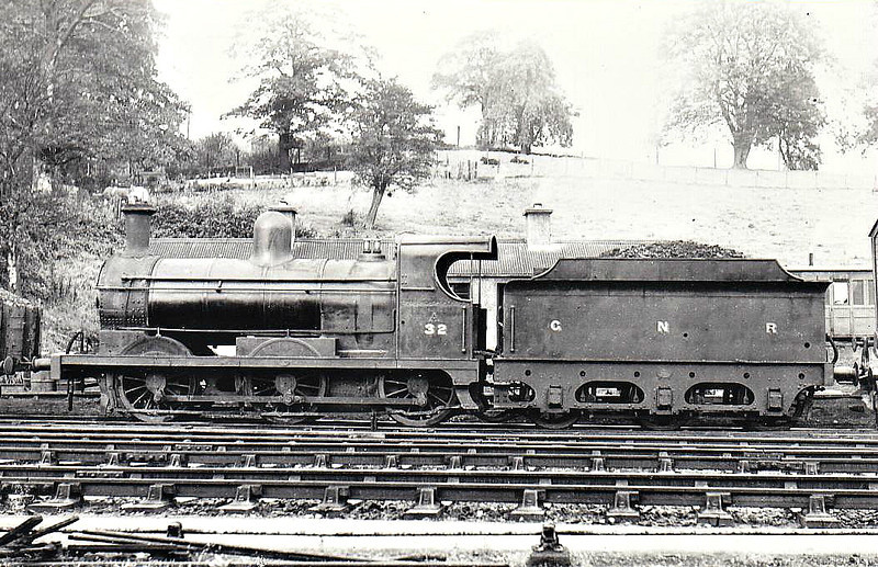Class AL - 32 DROGHEDA - GNR(I) 0-6-0 - built 1894 by Dundalk Works - 1958 to UTA as No.32x - withdrawn 1960 - seen here at Enniskillen.