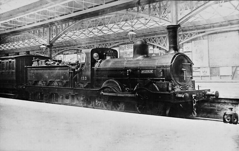 Class F - 133 SHANNON - Eaton GNR(I) 0-4-2 -  built 1866 by Beyer Peacock & Co., Works No.634, as Ulster Railway No.33 SHANNON - 1876 to GNR(I) - 1885 to GNR(I) No.133, 1899 to GNR(I) No.109, 911 to GNR(I) No.109A - 1911 withdrawn - seen here at Belfast.
